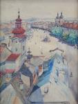 A. Adamec - View of the city Hradec Kralove