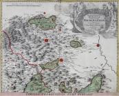 Jan Kryštof Müller - Mapa Přerovsko, sever