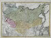 Franz Ludwig Güssefeld - Mapa Ruské říše