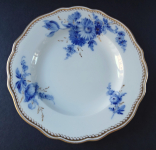 Plate with cobalt flowers - Meissen