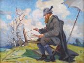 Frantisek Cina Jelinek - Painter in the open air