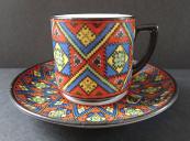 Moka šálek s textilním vzorem