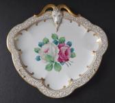 Zlacená miska s růžemi a kozlem - Rosenthal