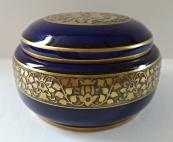 Kobaltová dózička se zlaceným ornamentem - Rosenthal