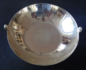 Silver bowl with oval handles