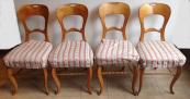 Čtyři židle v třešňové dýze - Biedermeier