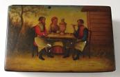 Painted Russian lacquer box - Vishnyakov