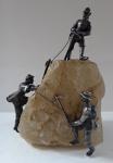 Mountain climbers on mountain crystal