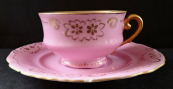 Růžový zlacený šálek - Březová