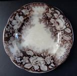 Stoneware brown plate - Altrohlau
