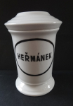 Porcelain pharmacy container, on chamomile