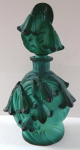 Flacon with stopper - Jade green glass