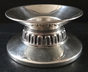 Small low silver candleholder