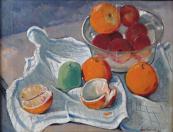 Jaroslav Váchal - Zátiší s pomeranči a jablky