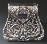 Stříbřený držák na listiny - Biedermeier