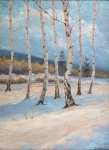 An. Maximov - Birches in winter