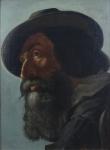 F. Schmidt - Portrét vousatého muže v klobouku