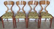 Čtyři židle, Biedermeier - Vídeň