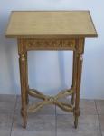 Zlacený stolek, se zlacenou deskou