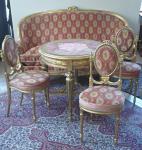 Salonní zlacený nábytek - styl Ludvík XVI.