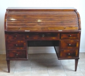 Writing desk with roller shutter - Biedermeier
