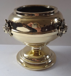 Brass bowl with angels