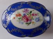 Blue box with silver and flowers - Ilmenau