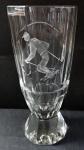 Skleněný pohár s rytinou lyžaře