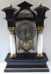 Column clock, with veduta - Biedermeier