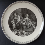 Decorative plate with the motif of woman with child