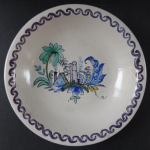 Faience bowl with architecture