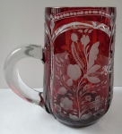 Ruby mug with cut flowers