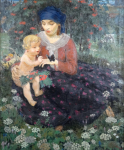 Rudolf Vejrych - Mother with child on meadow