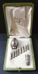 Stříbrná hlavice a hrot hůlky, epolety - Paříž, Eugene Lefebvre