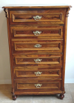 Smaller Secretary walnut veneer and four drawers