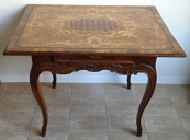 Baroque table with Rococo inlay and grid