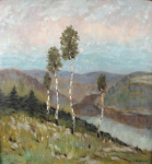 J. Kar. Jelinek - View of the valley with the river