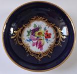 Malý míšeňský kobaltový talířek