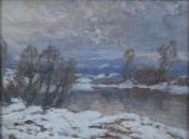 Zdenek Nemastil - Snowy landscape with the river