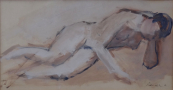 Rene Sebestik - Reclining Nude Girls