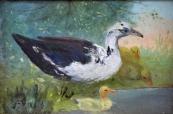 Christian Straub - Goose with goslings