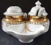 Porcelánové nádobky, na dochucování pokrmů