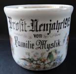 Veliký porcelánový hrnek - Nový rok 1912