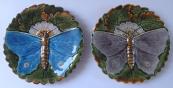 Dva secesní talířky, s motýli - Olomučany, Schütz