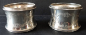 Two silver napkin rings - Germany