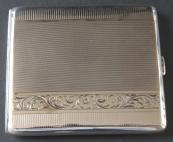 Cigarette box, silver, engraved - Czechoslovakia