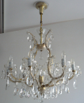 Crystal chandelier of the Theresian type