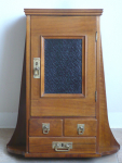 Art Nouveau hanging cabinet with drawers