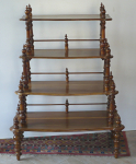 Stepped shelf etagere