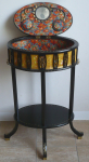 Sewing black table in the style of Viennese Art Nouveau
